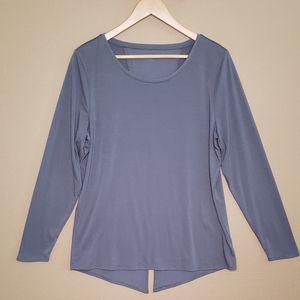 Athleta Gray Long Sleeve Tshirt Top